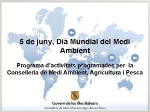 5 de juny Dia Mundial del Medi Ambient