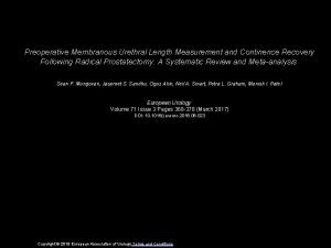 Preoperative Membranous Urethral Length Measurement and Continence Recovery