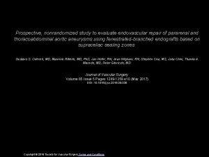 Prospective nonrandomized study to evaluate endovascular repair of