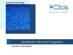 Beyond the technology beyond the technology Heartlands Instrument