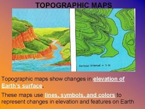 TOPOGRAPHIC MAPS Topographic maps show changes in elevation