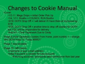 Changes to Cookie Manual Cover 12 11 Mega