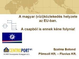 A magyar vzikzlekeds helyzete az EUban A csapbl