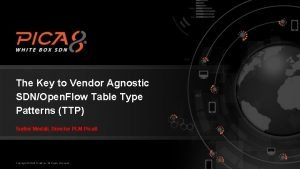 The Key to Vendor Agnostic SDNOpen Flow Table