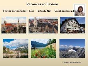Vacances en Bavire Photos personnelles Net Texte du