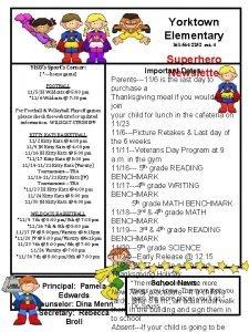 Yorktown Elementary 361 564 2252 ext 4 YISDs