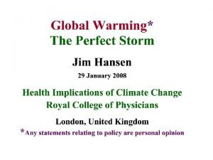 Perfect Storm Perfect Disaster 1 Great Inertia of