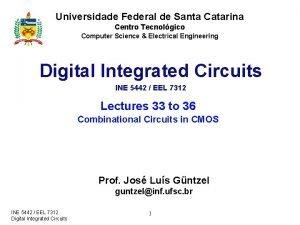 Universidade Federal de Santa Catarina Centro Tecnolgico Computer