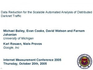 Data Reduction for the Scalable Automated Analysis of