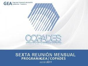 GEA Programa Empresarial de Anlisis Econmico Financiero SEXTA