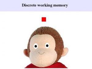Discrete working memory Discrete working memory Delay Discrete