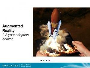 Augmented Reality 2 3 year adoption horizon aug