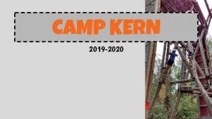 CAMP KERN 2019 2020 CAMP KERN Sixth grade