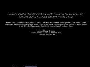 Genomic Evaluation of Multiparametric Magnetic Resonance Imagingvisible and