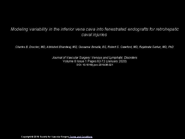 Modeling variability in the inferior vena cava into