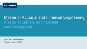 Master of Actuarial and Financial Engineering master actuarile