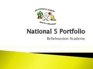 National 5 Portfolio Bellahouston Academy Portfolio Your Portfolio