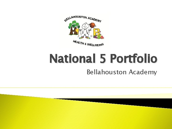 National 5 Portfolio Bellahouston Academy Portfolio Your Portfolio