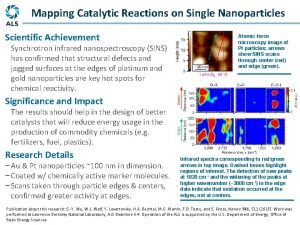 Mapping Catalytic Reactions on Single Nanoparticles Scientific Achievement