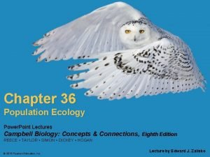 Chapter 36 Population Ecology Power Point Lectures Campbell