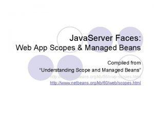 Java Server Faces Web App Scopes Managed Beans