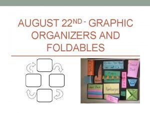 AUGUST 22 ND GRAPHIC ORGANIZERS AND FOLDABLES What