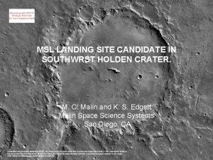 Mars Global Surveyor Mars Orbiter Camera 8 May