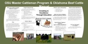 OSU Master Cattleman Program Oklahoma Beef Cattle Manual