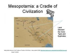 Mesopotamia a Cradle of Civilization Land between the