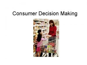 Consumer Decision Making Levels of Consumer Decision Making