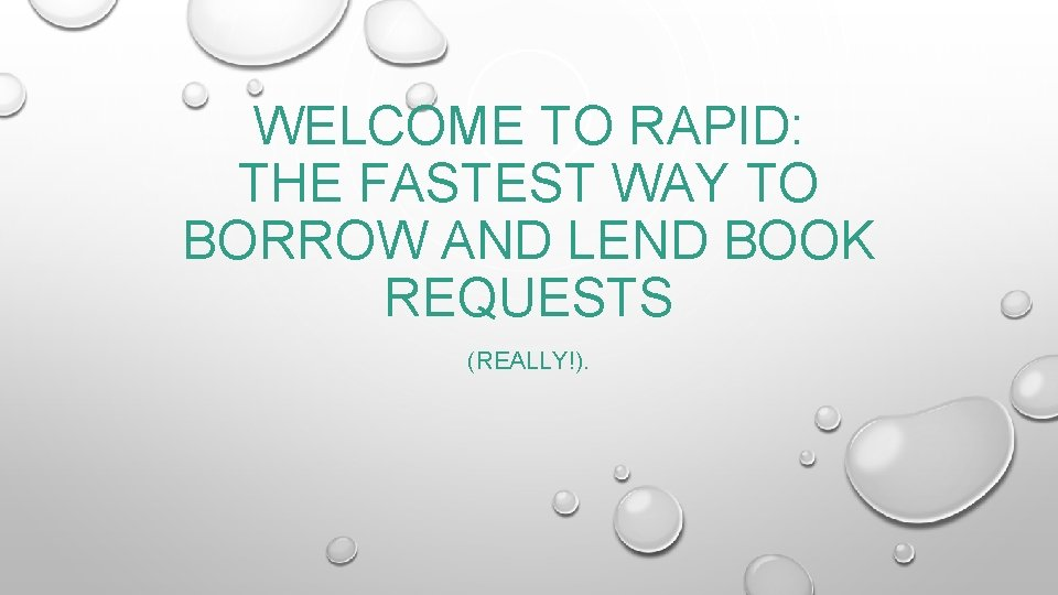 WELCOME TO RAPID THE FASTEST WAY TO BORROW