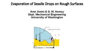 Evaporation of Sessile Drops on Rough Surfaces Amir
