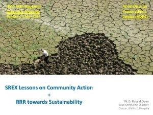 IPCC SREX Regional Outreach Meeting Bangkok 4 May