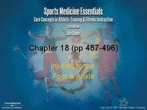Chapter 18 pp 487 496 Injuries to the