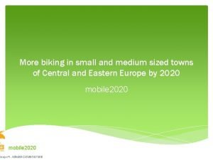 More biking in small and medium sized towns