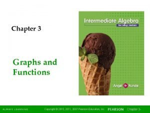 Chapter 3 Graphs and Functions Copyright 2015 2011