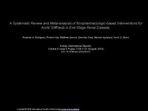 A Systematic Review and Metaanalysis of Nonpharmacologicbased Interventions