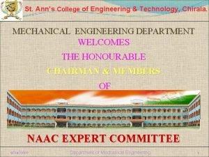 St Anns College of Engineering Technology Chirala MECHANICAL