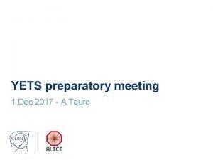 YETS preparatory meeting 1 Dec 2017 A Tauro