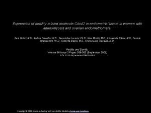 Expression of motilityrelated molecule Cdc 42 in endometrial