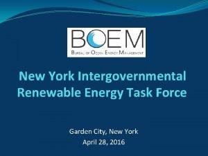 New York Intergovernmental Renewable Energy Task Force Garden