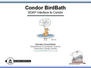 Condor Bird Bath SOAP Interface to Condor Charaka