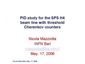 PID study for the SPS H 4 beam