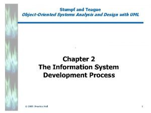 Stumpf and Teague ObjectOriented Systems Analysis and Design
