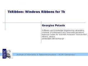Tk Ribbon Windows Ribbons for Tk Georgios Petasis