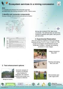Ecosystem services in a mining concession Aim To