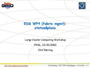 Partner Logo EDG WP 4 fabric mgmt statusplans