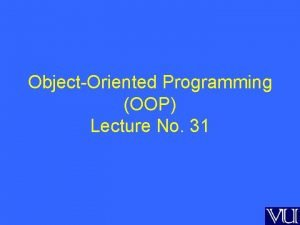 ObjectOriented Programming OOP Lecture No 31 Multiple Inheritance