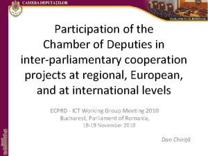 Participation of the Chamber of Deputies in interparliamentary
