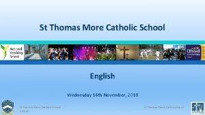 St Thomas More Catholic School English Wednesday 14